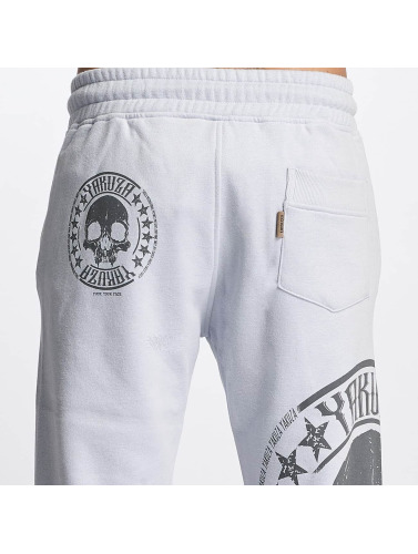 Yakuza Herren Jogginghose Skull Label in grau