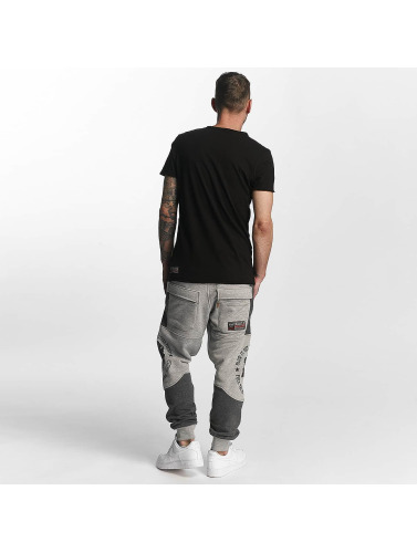 Yakuza Herren Jogginghose Punx Two Face Antifit in grau