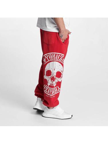 Yakuza Herren Jogginghose Skull Label in rot