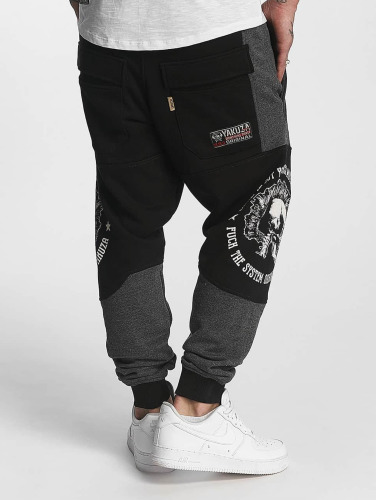 Yakuza Herren Jogginghose Punx Two Face Antifit in schwarz
