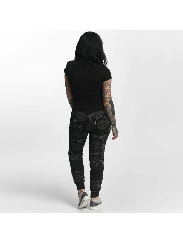 Yakuza Damen Jogginghose Allover Snake in schwarz