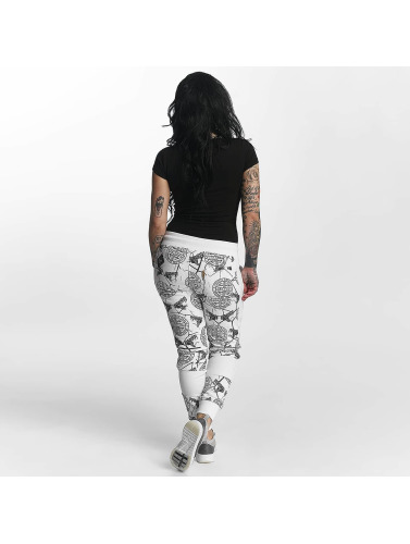Yakuza Damen Jogginghose Allover Snake in weiß
