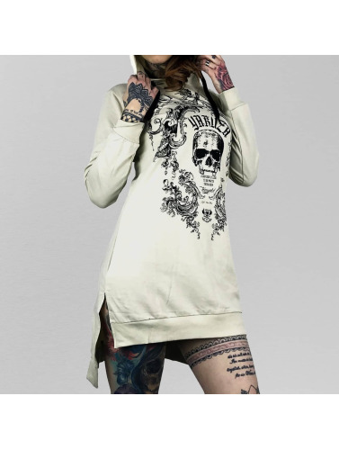 Yakuza Damen Kleid Skull Hooded in weiß