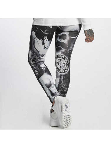 Yakuza Damen Legging Lost City in schwarz