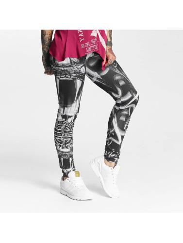 Yakuza Damen Legging Allover Snake II in schwarz