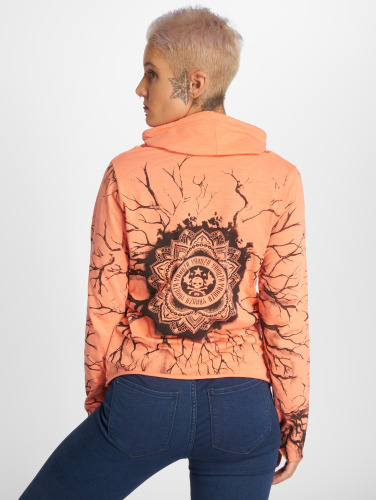 Yakuza Damen Longsleeve Roots Shawl in orange
