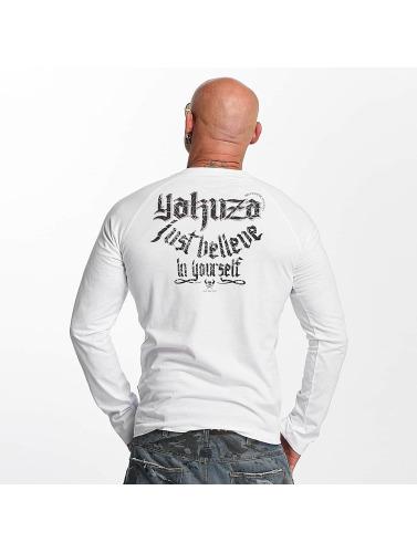 Yakuza Herren Longsleeve Just Believe in weiß