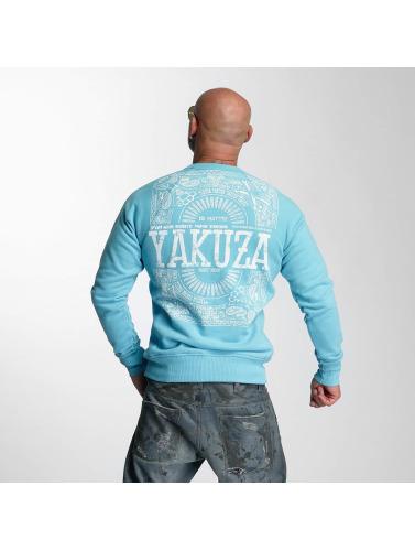 Yakuza Herren Pullover No Matter in blau