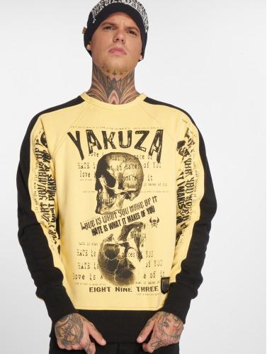 Yakuza Herren Pullover Love Hate in gelb