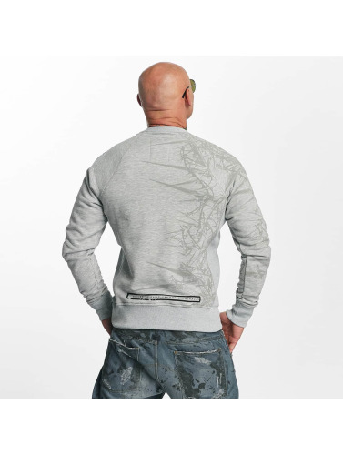 Yakuza Herren Pullover Thorns in grau