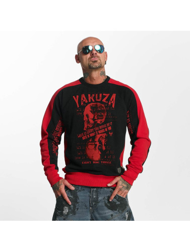 Yakuza Herren Pullover Love Hate in schwarz