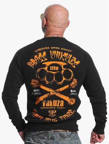 Yakuza Herren Pullover Brass Knuckles in schwarz