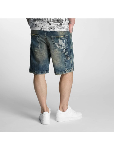 Yakuza Herren Shorts Caught In A Circle Denim in braun