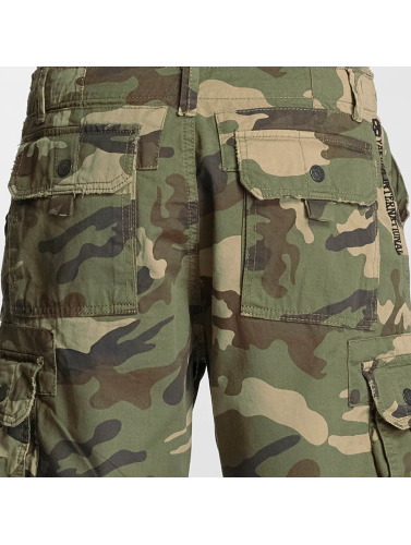 Yakuza Herren Shorts Skull Label in camouflage
