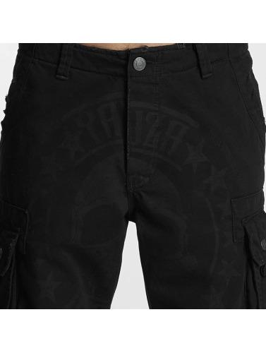 Yakuza Herren Shorts Skull Label in schwarz