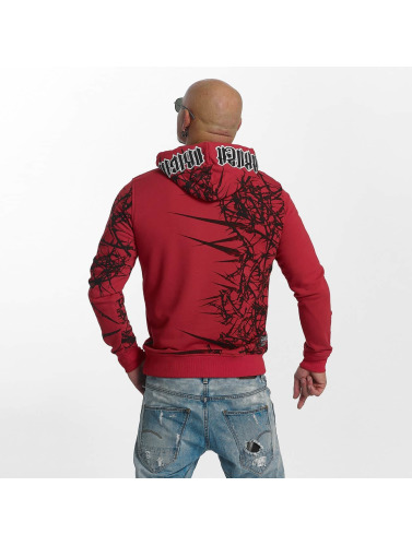 Yakuza Hombres Sudadera Pointed in rojo