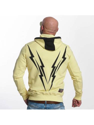 Yakuza Hombres Sudaderas con cremallera Thunderstorm in amarillo