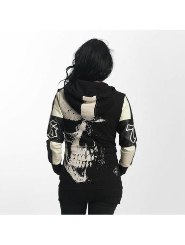 Yakuza Mujeres Sudaderas con cremallera Skull Mixed in negro