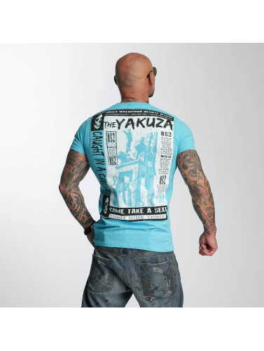 Yakuza Herren T-Shirt Take A Seat in blau