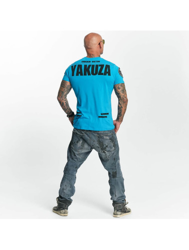Yakuza Herren T-Shirt Chockin Victim in blau