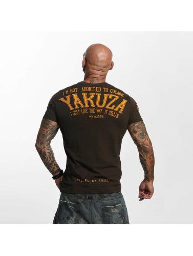 Yakuza Herren T-Shirt Addicted in braun