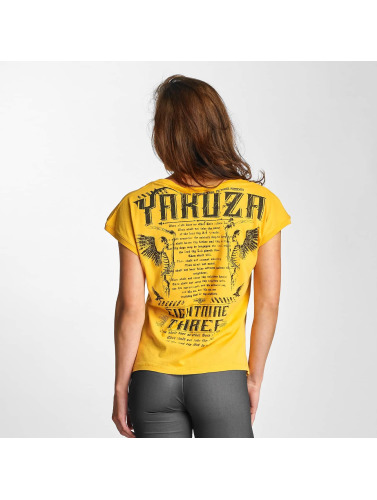 Yakuza Damen T-Shirt Commandments Knot in gelb