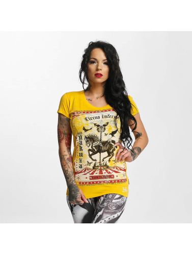 Yakuza Damen T-Shirt Circus Inferno in gelb