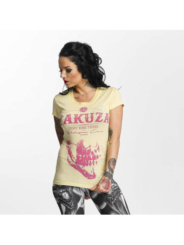Yakuza Damen T-Shirt Daily Skull in gelb