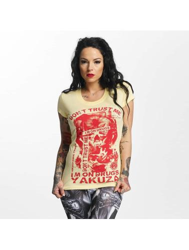 Yakuza Damen T-Shirt Don't Trust Me in gelb