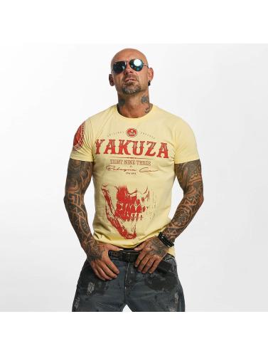 Yakuza Herren T-Shirt Daily Skull in gelb