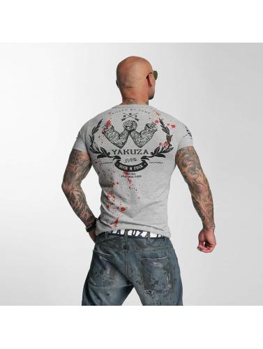 Yakuza Herren T-Shirt Killed By Fame in grau