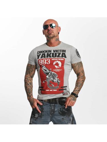 Yakuza Herren T-Shirt Chockin Victim in grau