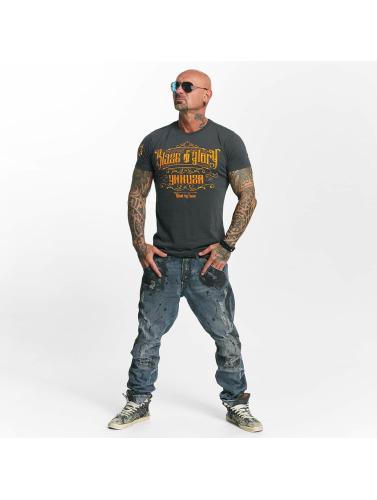 Yakuza Herren T-Shirt Blaze N Glory in grau