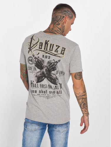 Yakuza Herren T-Shirt One Shot in grau