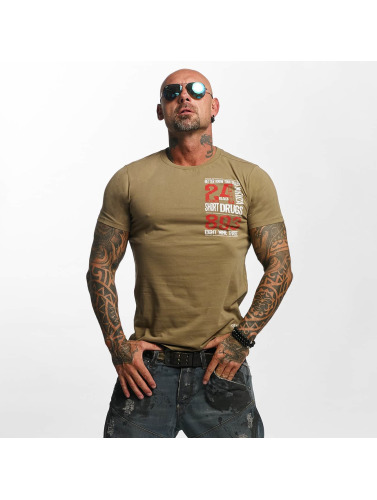 Yakuza Herren T-Shirt Know Your Dealer in grün