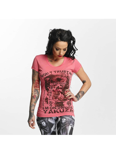 Yakuza Damen T-Shirt Don't Trust Me in rosa