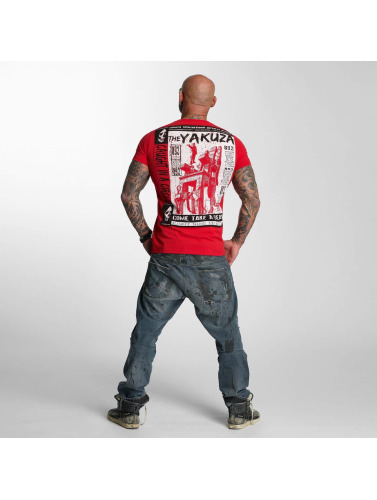 Yakuza Herren T-Shirt Take A Seat in rot