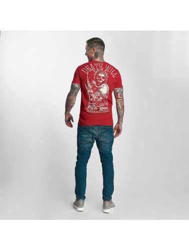 Yakuza Herren T-Shirt Death Will Find You in rot