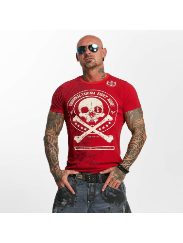 Yakuza Herren T-Shirt Face in rot