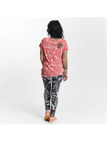 Yakuza Damen T-Shirt Allover Label Boyfriend in rot Erhalten Günstig Online Kaufen Mit Kreditkarte Günstigem Preis Spielraum Hohe Qualität NTstt9u