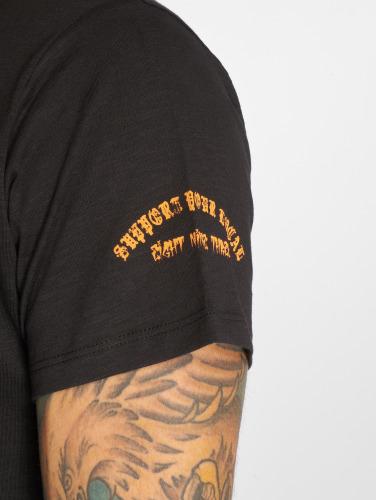 Yakuza Herren T-Shirt Brass Knuckles Crew in schwarz