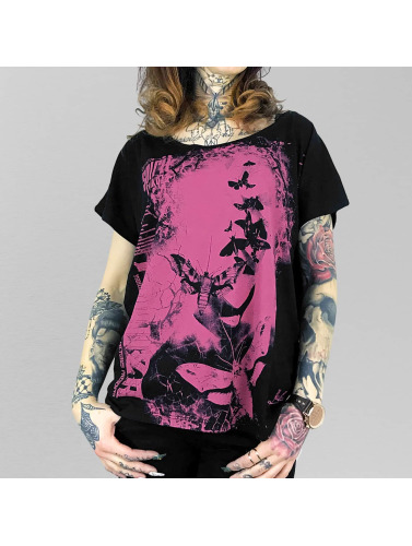Yakuza Damen T-Shirt Spirit Wide Crew in schwarz