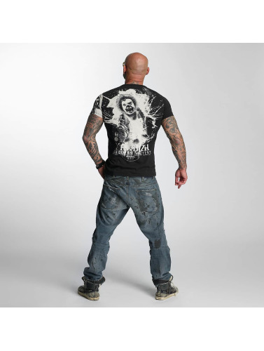 Yakuza Herren T-Shirt Yent in schwarz
