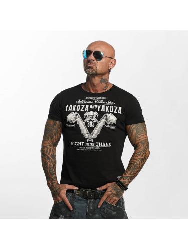 Yakuza Herren T-Shirt Tattoo Shop in schwarz