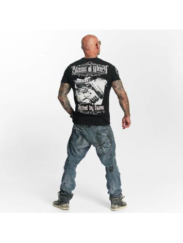 Yakuza Herren T-Shirt Blaze N Glory in schwarz