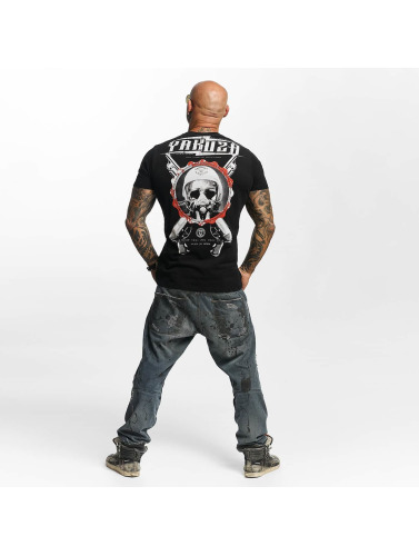 Yakuza Herren T-Shirt Helmet Skull in schwarz