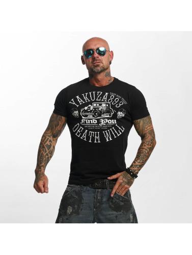 Yakuza Herren T-Shirt Death Will Find You in schwarz Billig Empfehlen LK5xvdmSEa