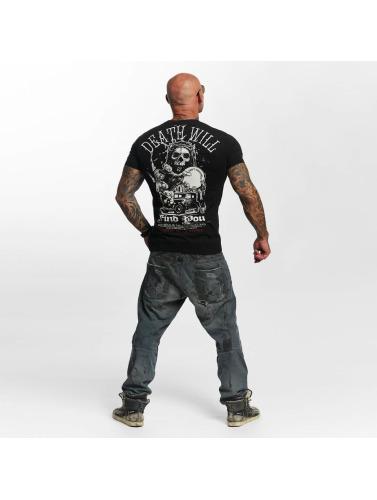 Yakuza Herren T-Shirt Death Will Find You in schwarz