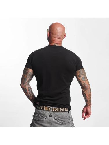 Yakuza Herren T-Shirt Basic Line Crew Neck in schwarz