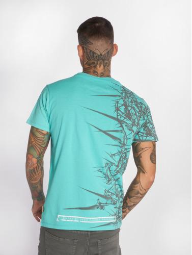 Visage De T-shirt Yakuza Mens En Turquoise